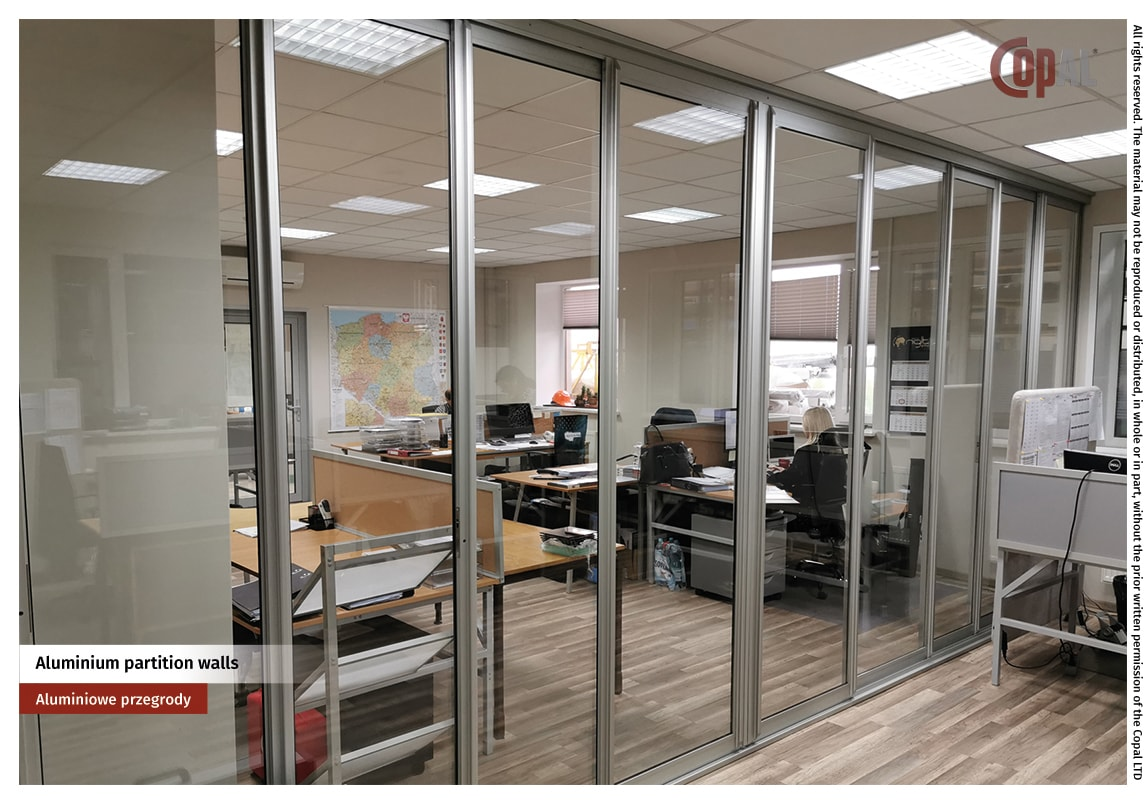 Aluminium partition walls