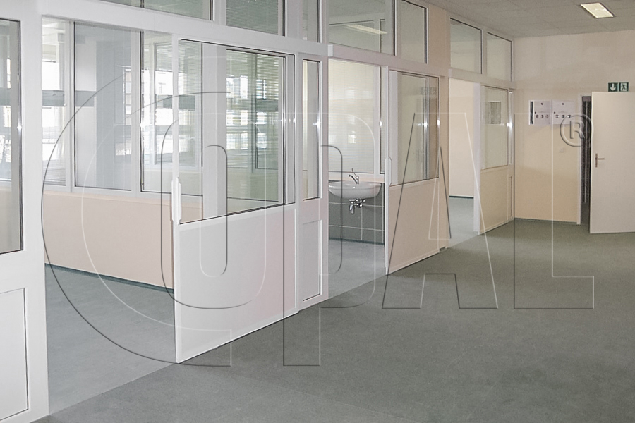 Fixed Partitions System Of Aluminum Office Partitions